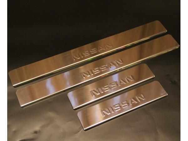 Накладки на пороги для  Nissan Almera / Ниссан Альмера