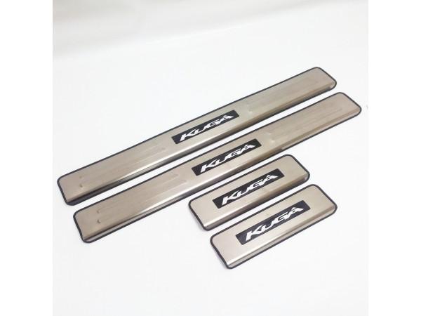 Накладки на пороги с подсветкой Ford Kuga